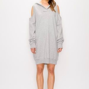 Cold Shoulder Hoodie Dress